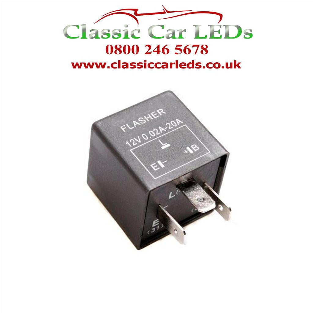 12V ELECTRONIC INDICATOR FLASHER RELAY WITH OE CLICKING SOUND EP35