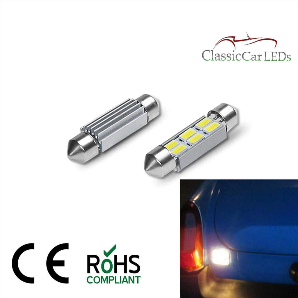 CLASSIC CAR LED REVERSING LIGHT BULBS GLB273 5630 SMD 6 LED MGB MGC MIDGET ETC
