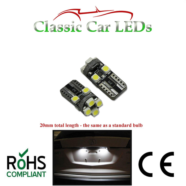 20MM LENGTH T10 LED ERROR FREE CANBUS 8 SMD BRIGHT WHITE W5W 501