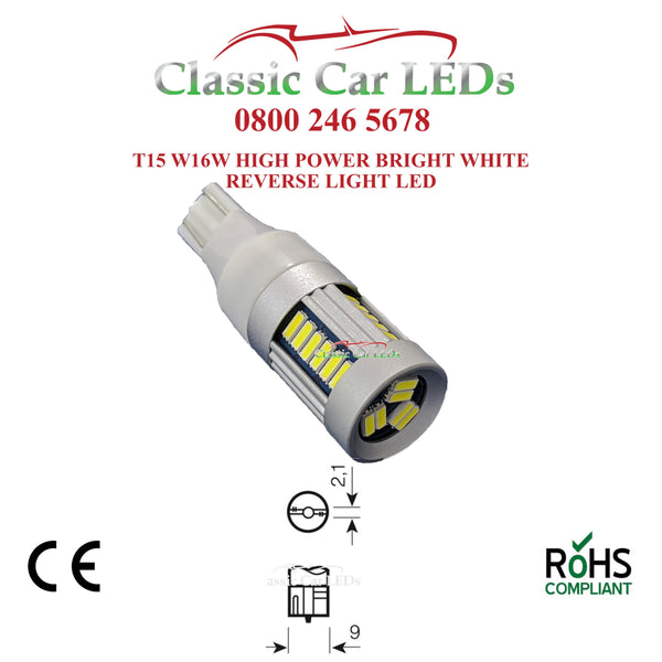 W16W T15 955 921 CANBUS 30 SMD LED ERROR FREE FOG REVERSE STOP BRAKE LIGHT