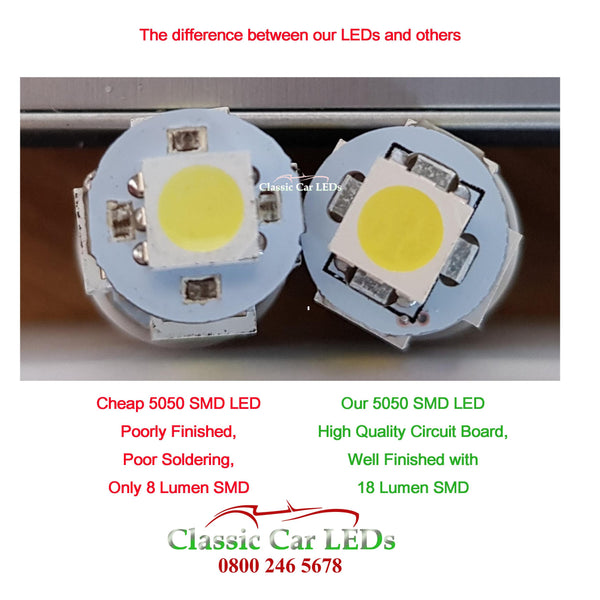 6V WARM WHITE E10MES CAR MOTORCYCLE SCOOTER LED BULB GLB990 NO POLARITY
