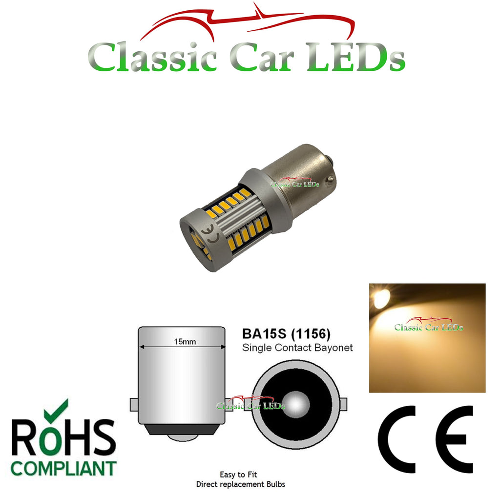 24V BA15S 21W WARM WHITE LED GLB241 BULB CLASSIC COMMERCIAL VEHICLE P21W