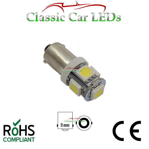 6V BA9S CLASSIC CAR MOTORCYCLE SCOOTER LED BULB GLB951 GLB293 NO POLARITY