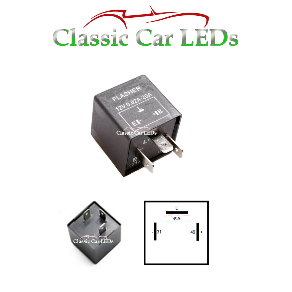 Porsche 911, 924, 928, 944, 968, 964, 993 Electronic Clicking Flasher Relay - great for LED or Standard Bulbs