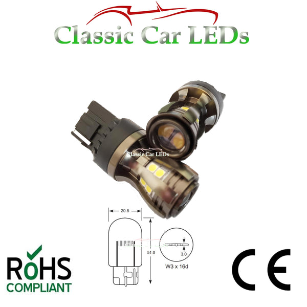 T20 W21W 7440 582 Bright White Canbus LED Reverse Light Bulb