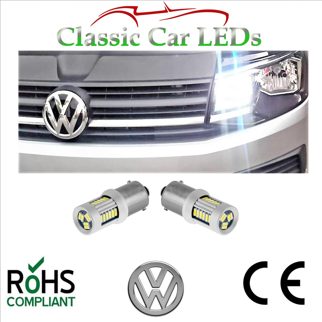 2x VW T5.1 T6 Transporter DRL CANBUS LED Daytime Running Light Upgrade Bulbs