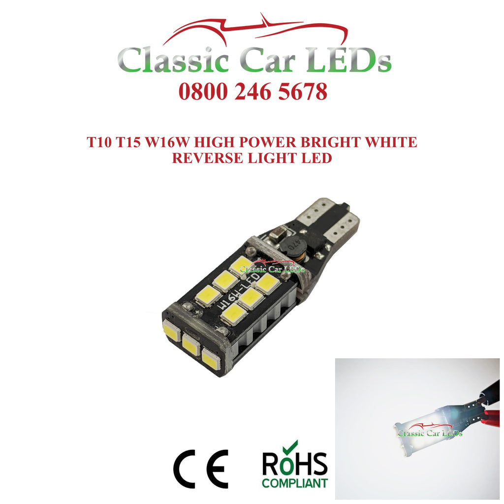 W16W T15 955 921 CANBUS ERROR FREE LED REVERSE BACK UP LIGHT