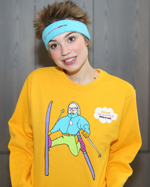 Hoof Hearted Skier Sweatshirt, Yellow
