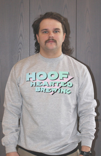 Hoof Hearted Brewing Gradient Logo, Grey Sweatshirt
