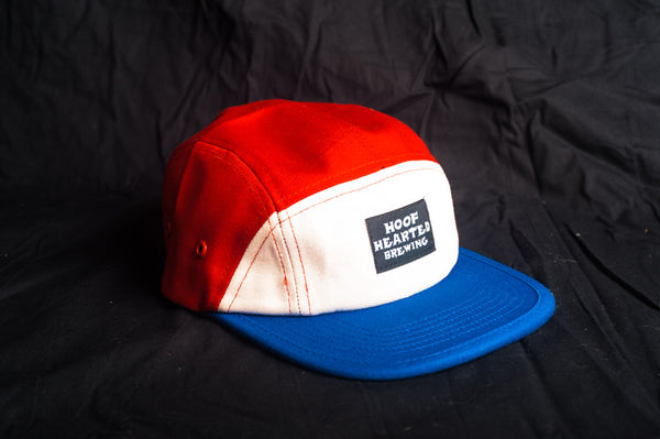 Hoof Hearted Brewing 5 Panel, Red, White, and Blue
