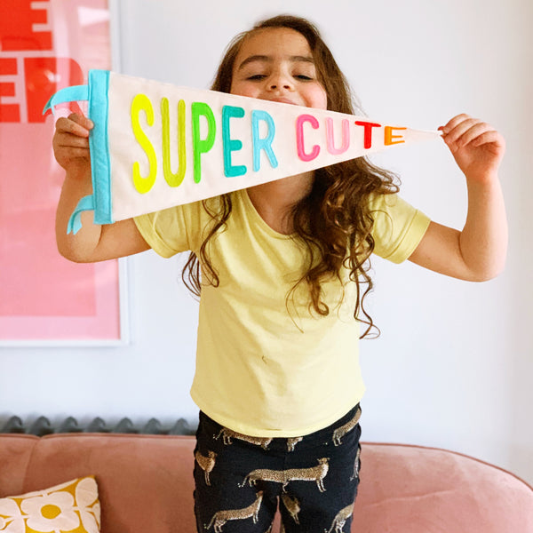 Super Cute Pennant Flag - Connie Clementine