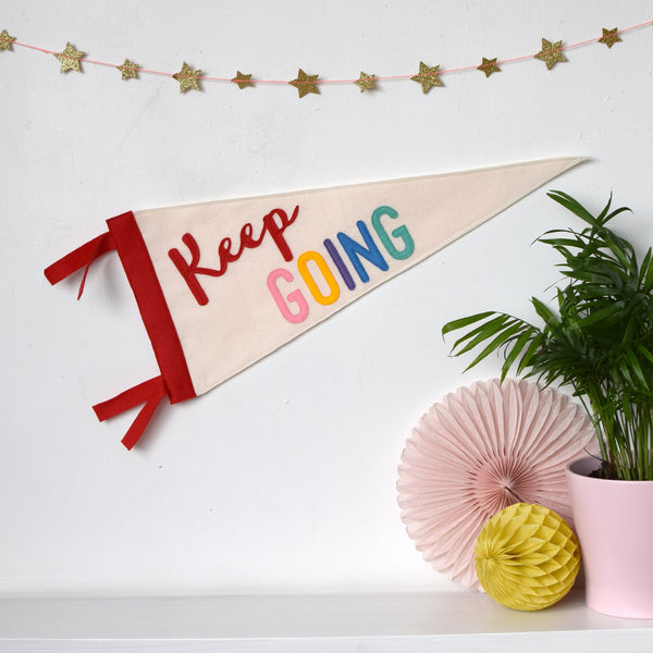 Keep Going Pennant Flag - Connie Clementine