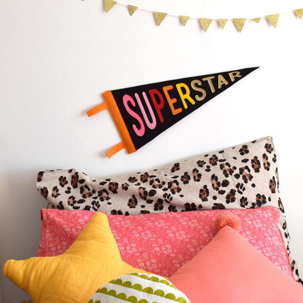SUPERSTAR pennant flag LIMITED EDITION Gold Glitter - Connie Clementine