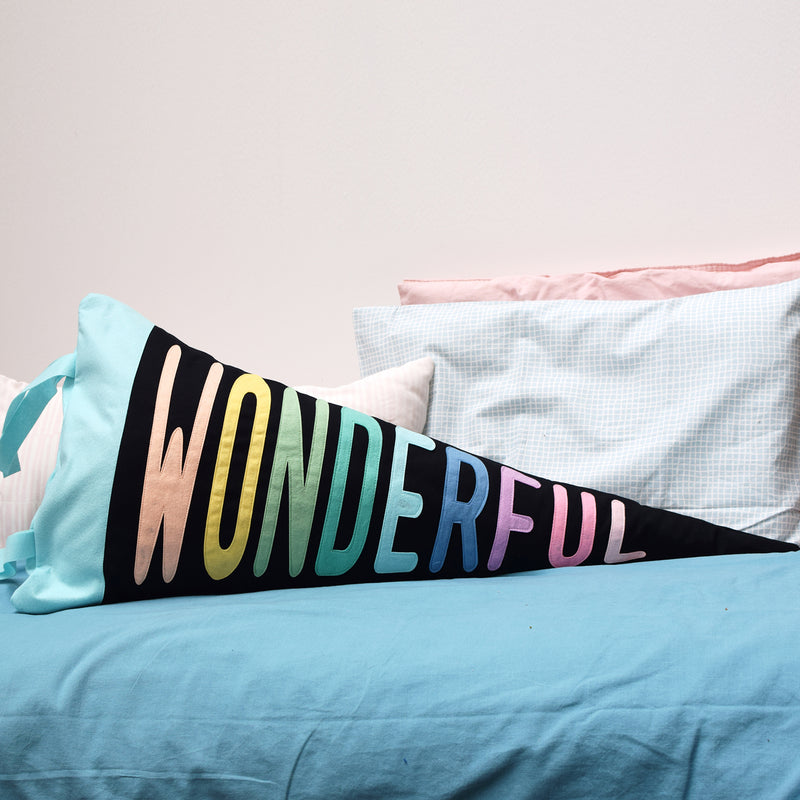 Wonderful Pennant Cushion Black - Connie Clementine