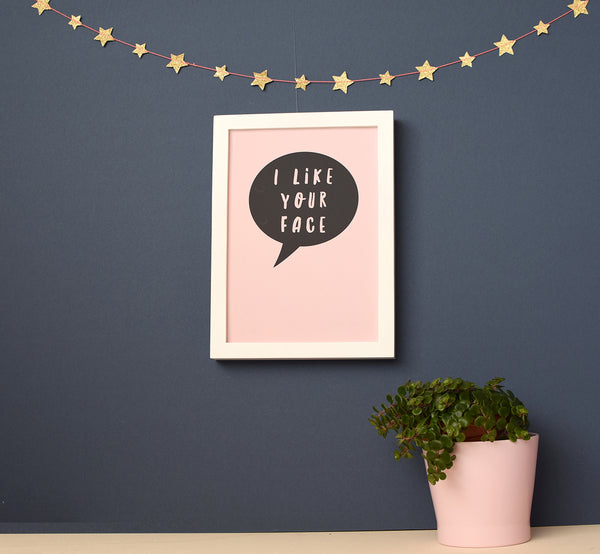 I like your face speech bubble print - Connie Clementine