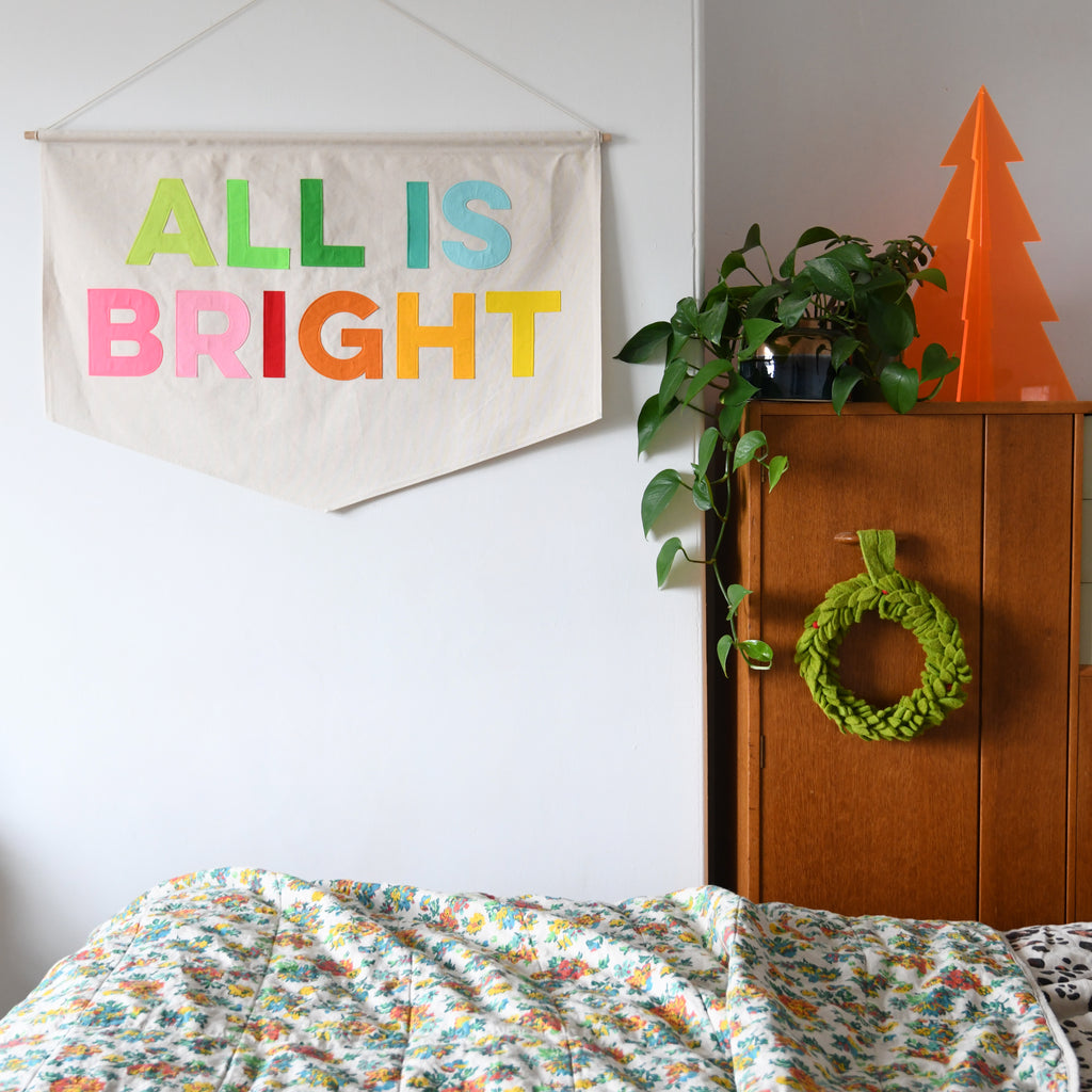 All Is Bright Christmas Banner