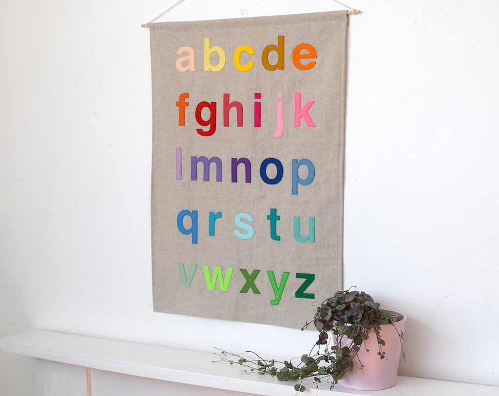 Alphabet wall hanging - Connie Clementine