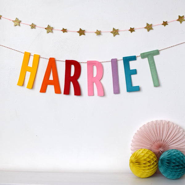 Personalised Felt Letter Garland - Connie Clementine