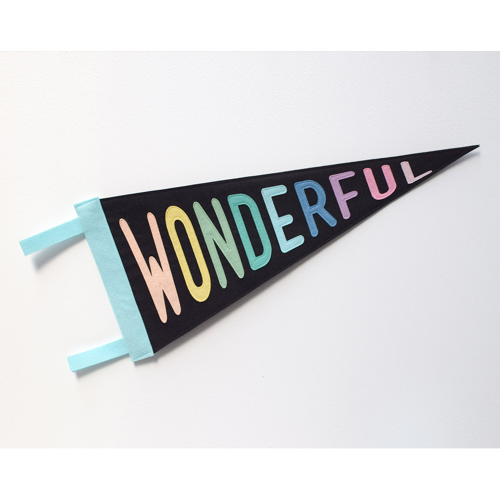 Wonderful Pennant Flag Black - Connie Clementine