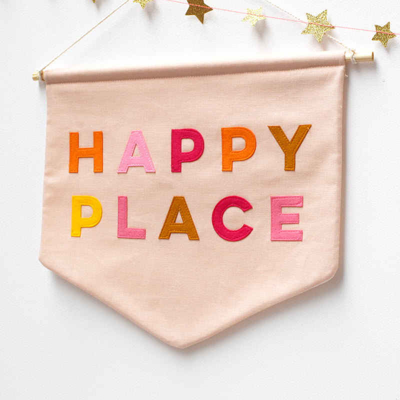 Happy Place Banner Flag - Connie Clementine