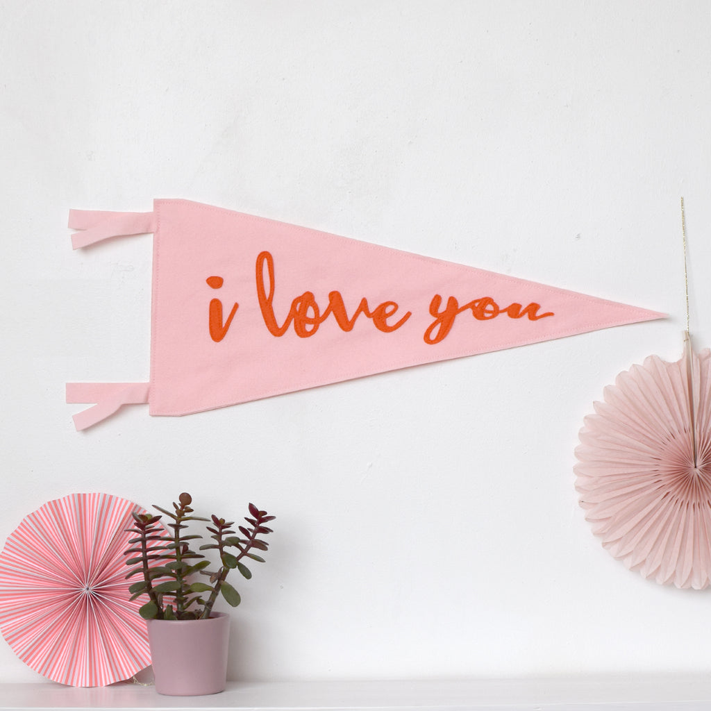 I love you wall flag - Connie Clementine