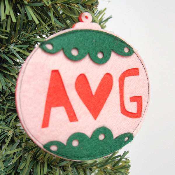 Personalised Felt Christmas Couples Bauble - Connie Clementine
