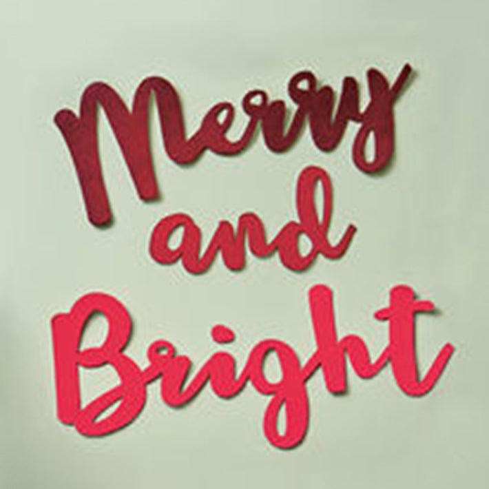 Merry + Bright wall words