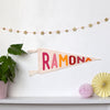 Personalised Pennant Flag - Connie Clementine