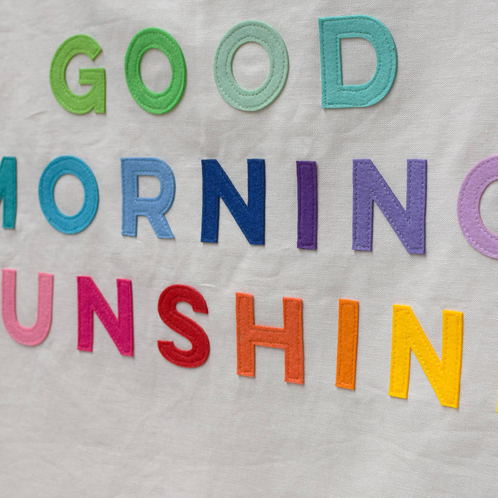 Good morning sunshine banner flag