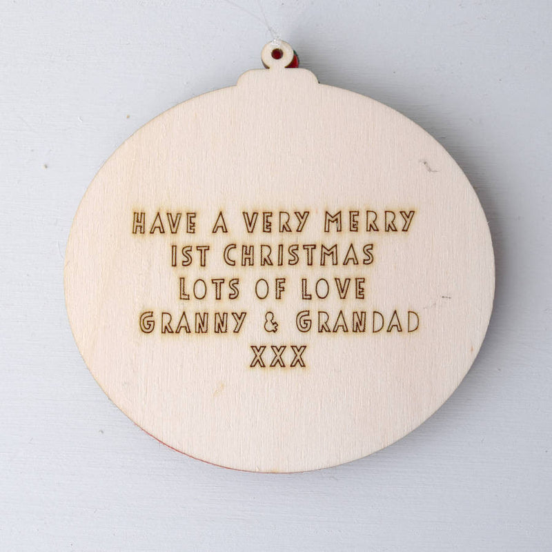Personalised Initial Christmas Bauble - Connie Clementine