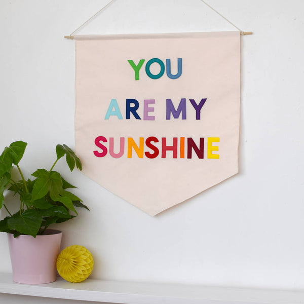 You are my sunshine nursery banner flag - Connie Clementine