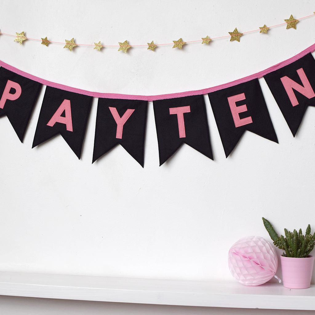 Personalised Felt Bunting - Connie Clementine