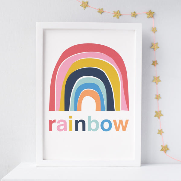 Rainbow Nursery print - Connie Clementine