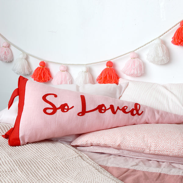 So Loved Pennant Cushion - Connie Clementine