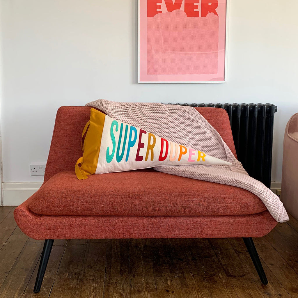 Super Duper Pennant Cushion - Connie Clementine