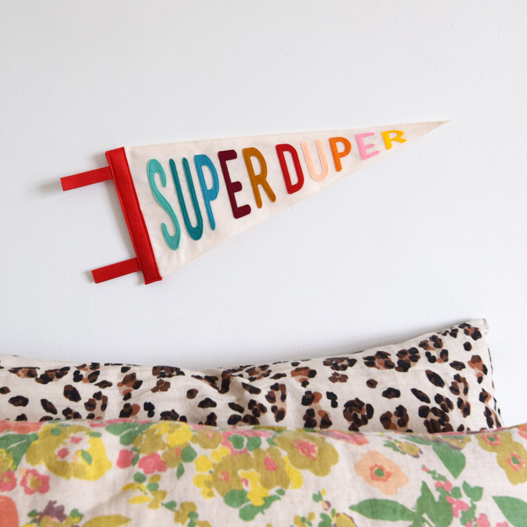 Super Duper Pennant Flag - Connie Clementine