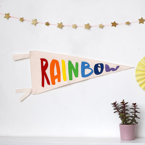 Rainbow pennant flag - Connie Clementine