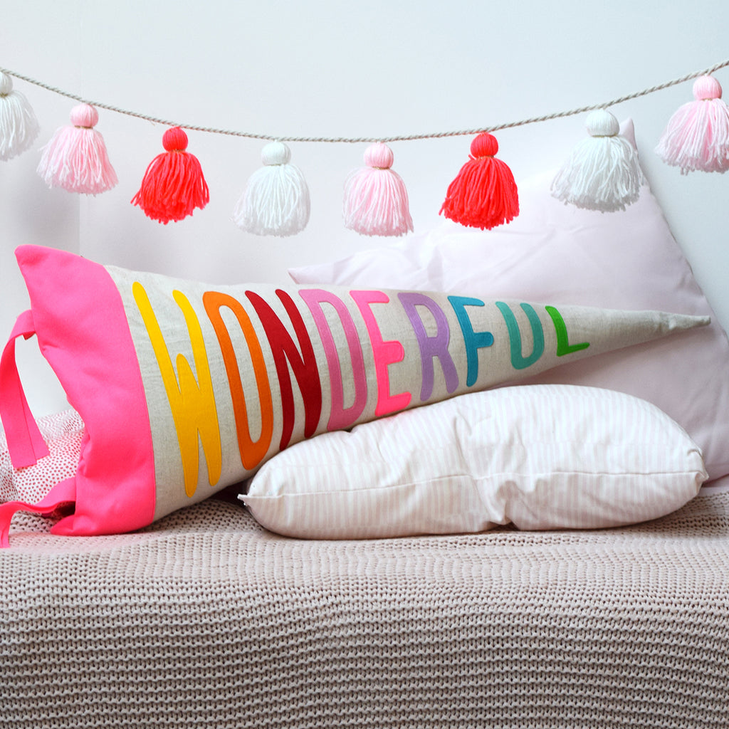 Wonderful Pennant Cushion - Connie Clementine