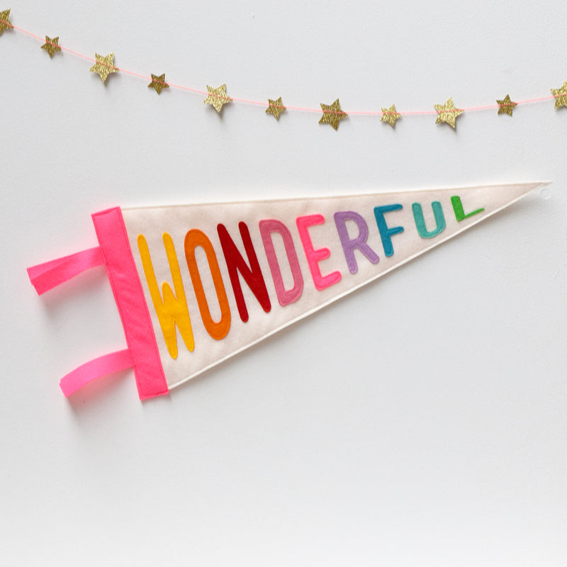 Wonderful Pennant Flag - Connie Clementine