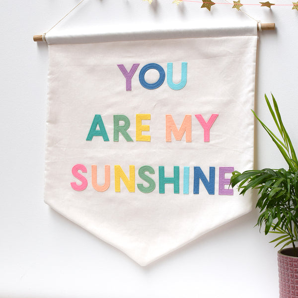 You Are My Sunshine Pastel Banner - Connie Clementine