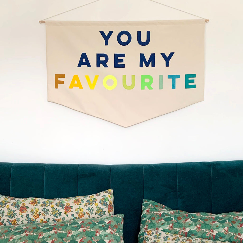 You are my favourite  Wall hanging - Connie Clementine