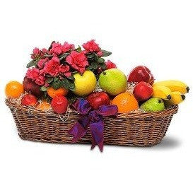 Plant And Fruit Basket - Flowers by Pouparina