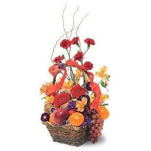 Fruits And Flowers Basket - Flowers by Pouparina