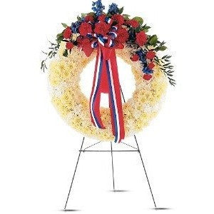 Patriotic Spirit Wreath - Flowers by Pouparina