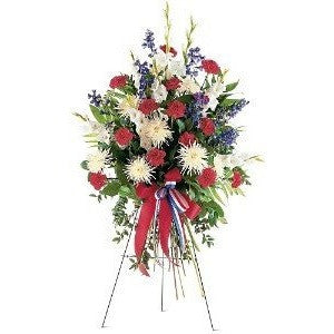 Patriotic Spirit Spray - Flowers by Pouparina