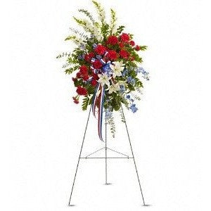 Patriotic Flag Standing Spray