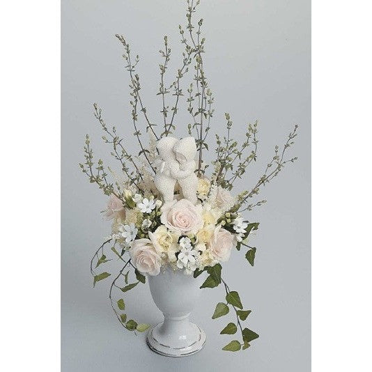 White Tender Flowers Sympathy Tribute - Flowers by Pouparina