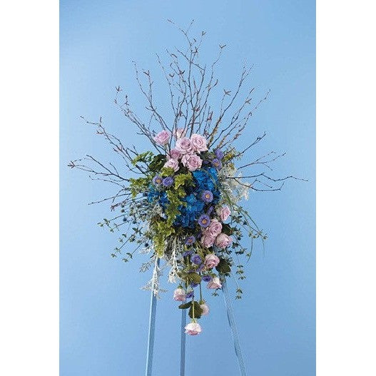 Sympathy Standing Spray - Flowers by Pouparina
