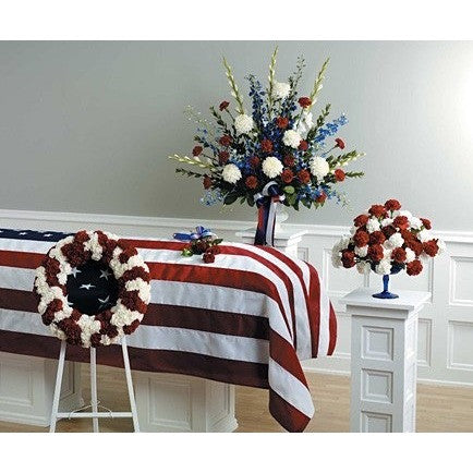 Patriotic Theme Sympathy Package - Flowers by Pouparina
