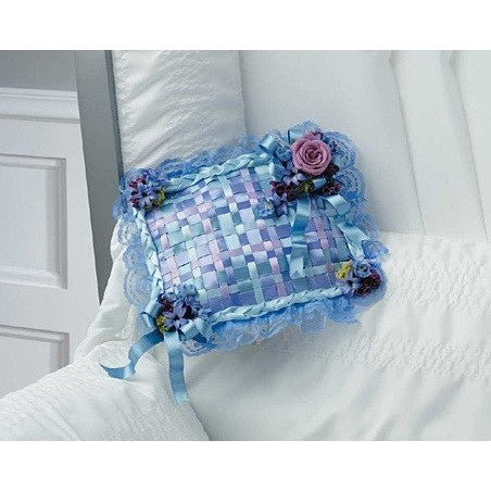 Blue Pillow and Flowers Corsage Lid Inset - Flowers by Pouparina